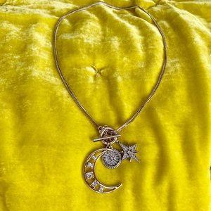 Express half moon necklace